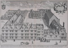 David Loggan Exeter College, Oxford Engraving 1675