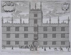 David Loggan Frontispiece Public Schools Oxford engraving 1675