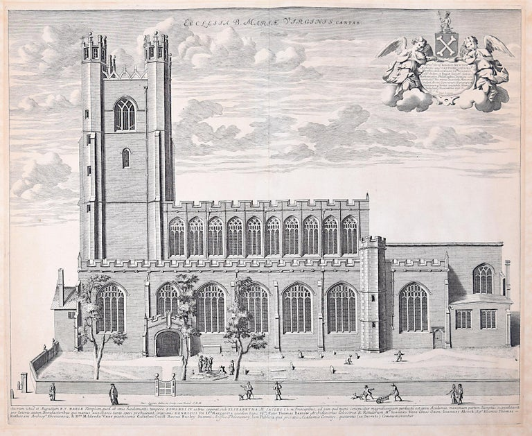 David Loggan Great St Mary's Church Cambridge University engraving 1690 - Print by David Loggan
