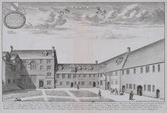 David Loggan Hall of the Blessed Virgin Oxford Engraving