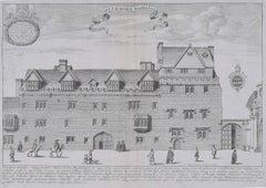 David Loggan Hertford College Magdalen Hall Oxford Engraving 1675