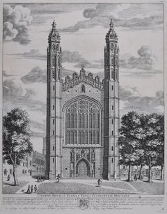 David Loggan King's College Cambridge Chapel engraving 1690 Colegii Regalis