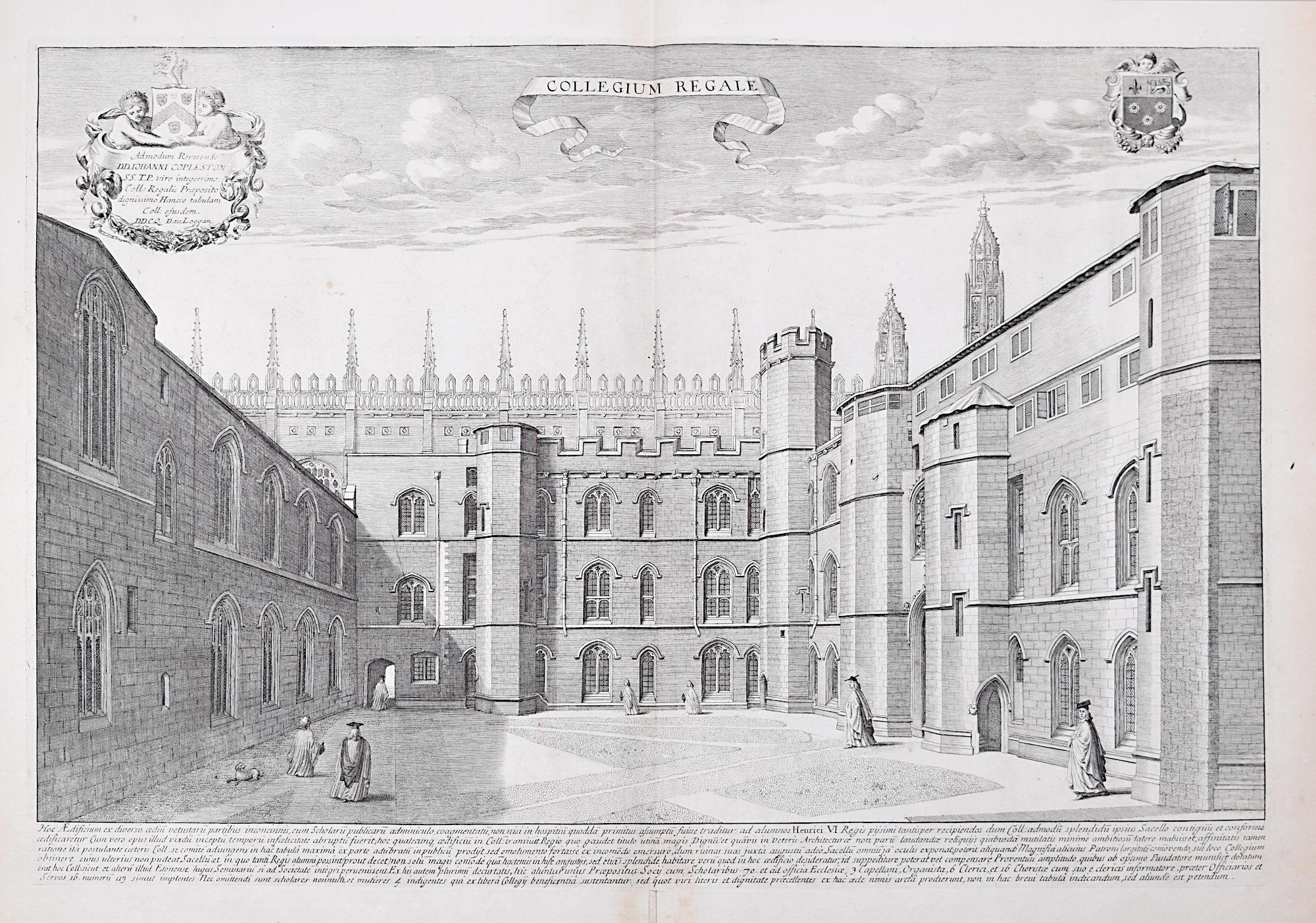 David Loggan King's College Cambridge engraving 1690