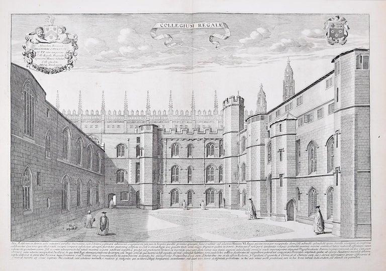 David Loggan King's College Cambridge engraving 1690 - Print by David Loggan
