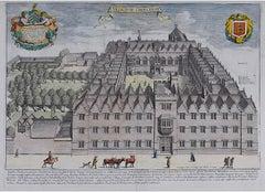 David Loggan Oriel College Oxford - Collegium Orielense - 1675 engraving