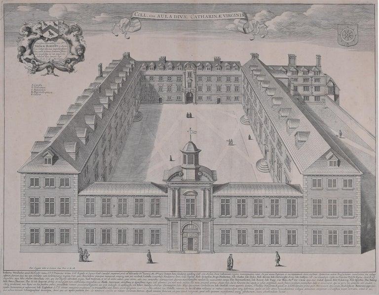 David Loggan St Catharine's College Cambridge engraving 1690  - Print by David Loggan