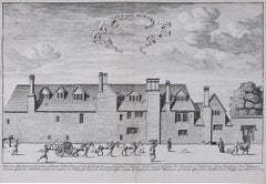 David Loggan St Peter's College Oxford New Hall Inn - Aula Novi Hospitii 1675
