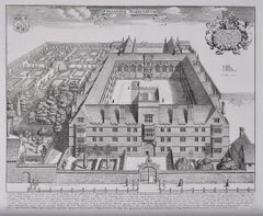David Loggan Wadham College Oxford Collegium Wadhamense 1675 engraving