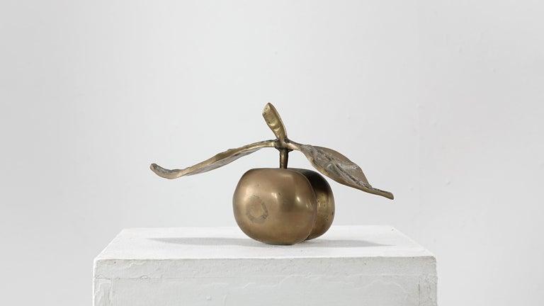 David Marshall Desenos Brass Apple Sculpture In Good Condition In Munster, NRW
