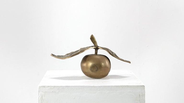 David Marshall Desenos Brass Apple Sculpture 2