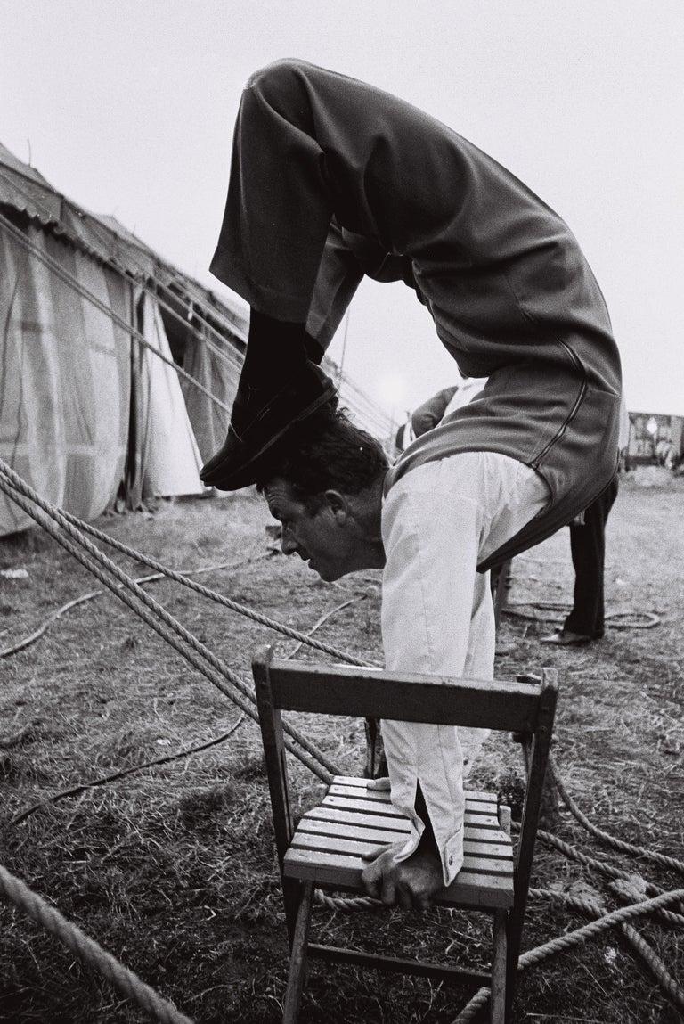 David McCabe Black and White Photograph - The Mills Brother Circus, Martha's Vineyard