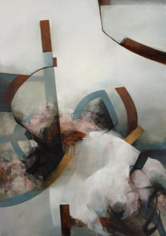 Abstract Oil on Linen Canvas: 'Corrida'