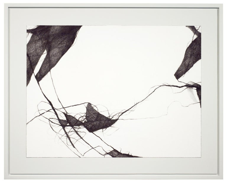 David Mellen Abstract Painting - Charcoal Minimal Abstract Drawing: 'Voices III'