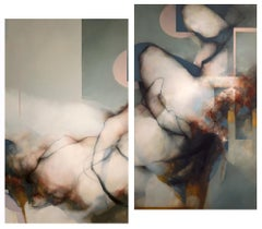 Diptych; two panels each 70 x 42 in: 'Swansong'