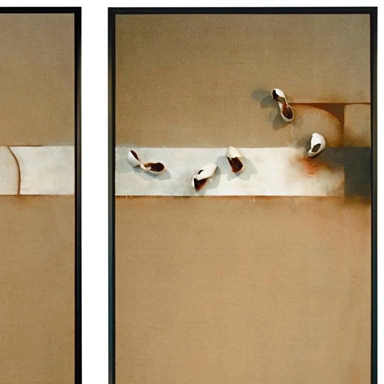 Diptych; Still Stand - Abstract Sculpture by David Mellen