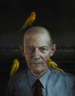 """""""Robert Stroud (Birdman of Alcatraz),"""" Oil Painting"""