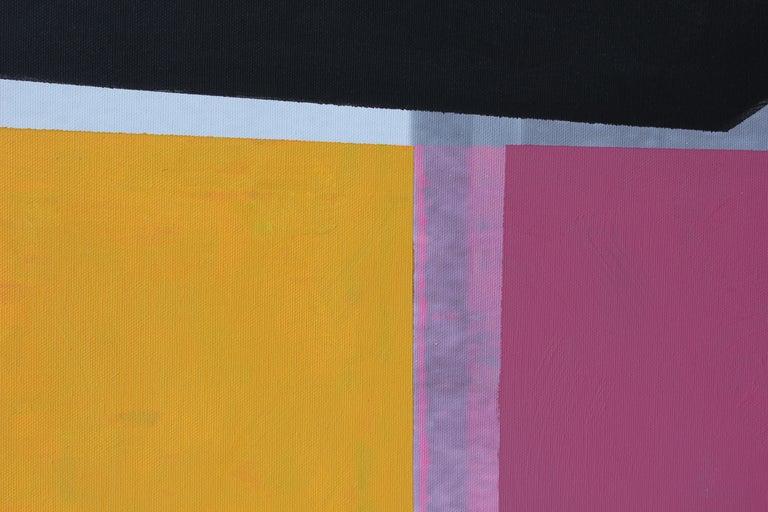Modern Abstract Painting of Houston Rothko Chapel Sculpture Broken Obelisk 1