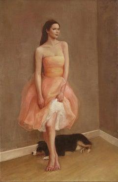 Pink Dress  / oil on linen