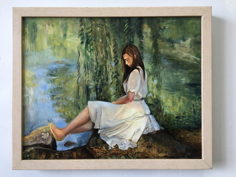 Reflections by the Willow - Painting by David Molesky