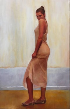 White Dress - Scout / oil on canvas