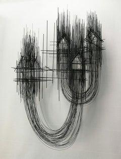 Mi otro yo contigo y tu otro yo, 21st century, modern, sculpture, steel, house