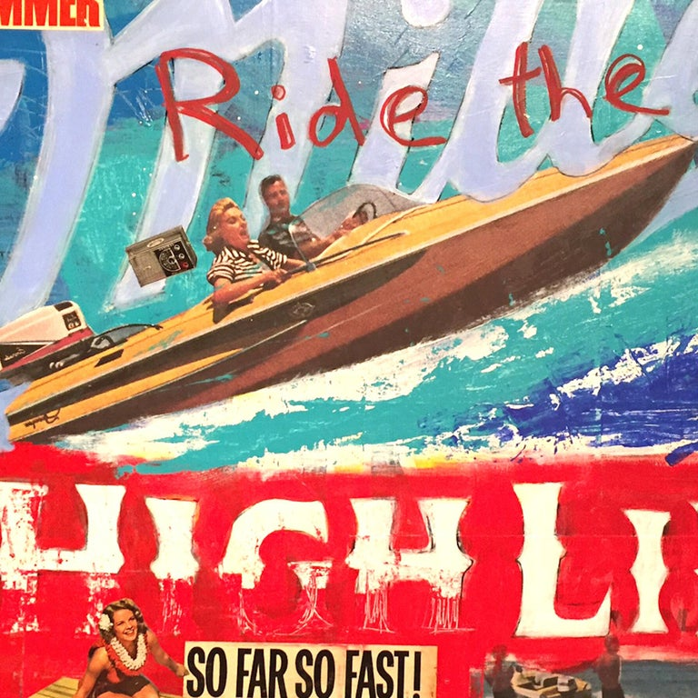 Ride High Life - Pop Art Mixed Media Art by David Morico