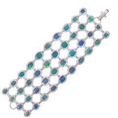 David Morris 37.52 Carat Opal 16.05 Carat Diamond Bracelet