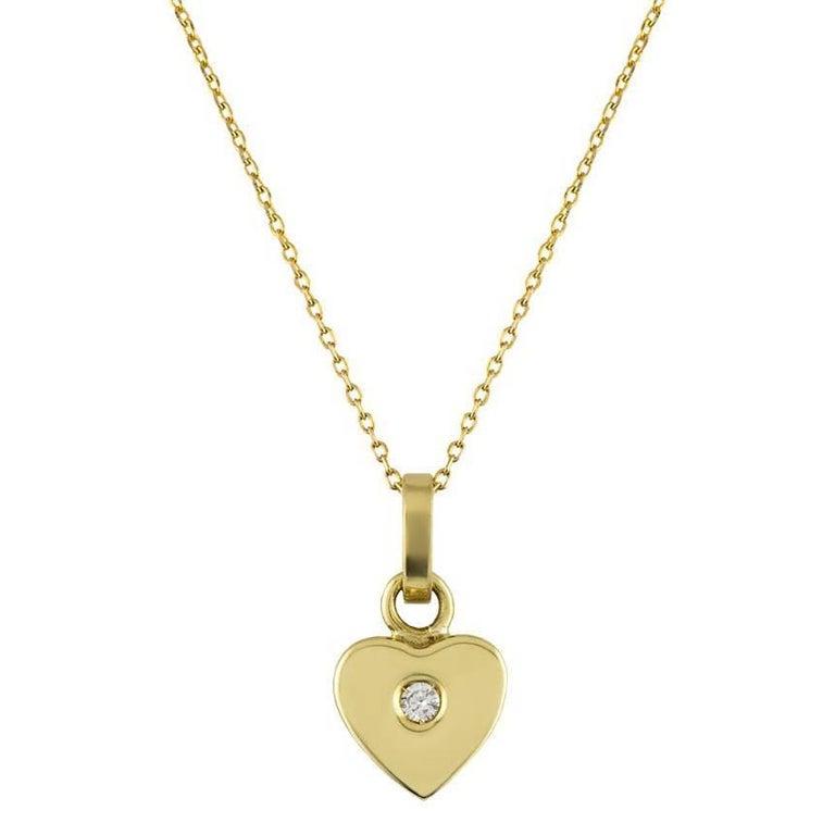 David Morris Heart Diamond Pendant