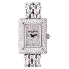 David Morris Platinum Diamond Watch