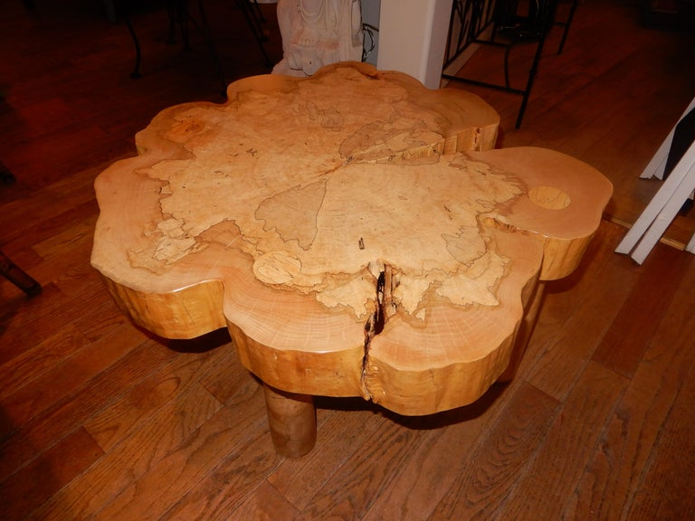 David N. Ebner, Spalted Maple Wood Coffee Table For Sale 3