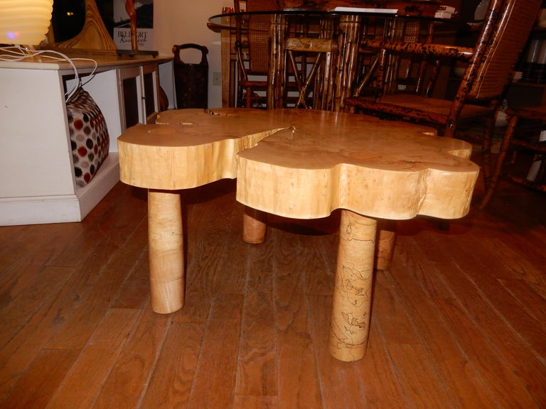 David N. Ebner, Spalted Maple Wood Coffee Table For Sale 4