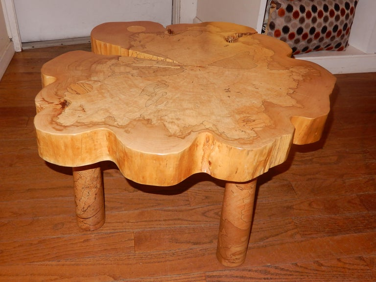 American Craftsman David N. Ebner, Spalted Maple Wood Coffee Table For Sale
