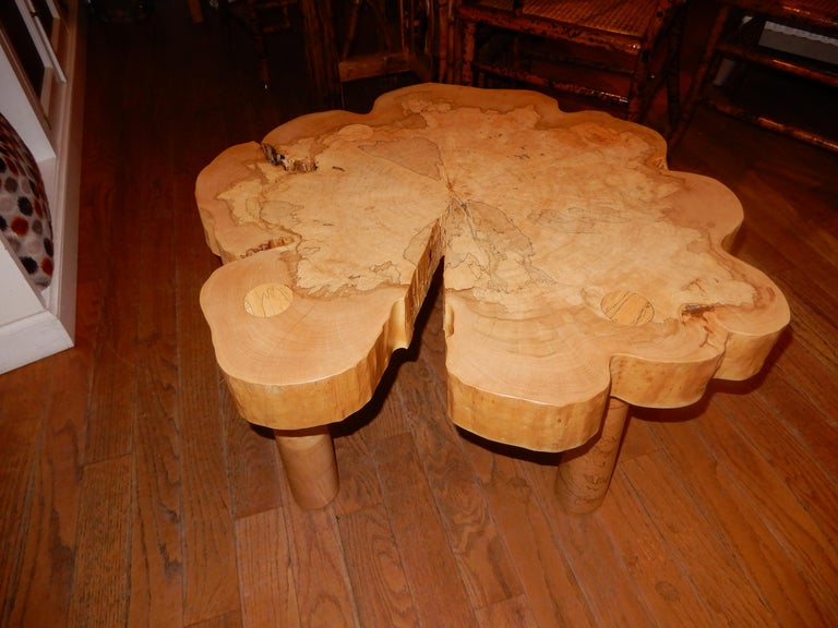 Contemporary David N. Ebner, Spalted Maple Wood Coffee Table For Sale