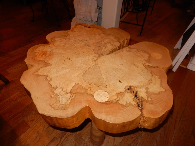 David N. Ebner, Spalted Maple Wood Coffee Table For Sale 2