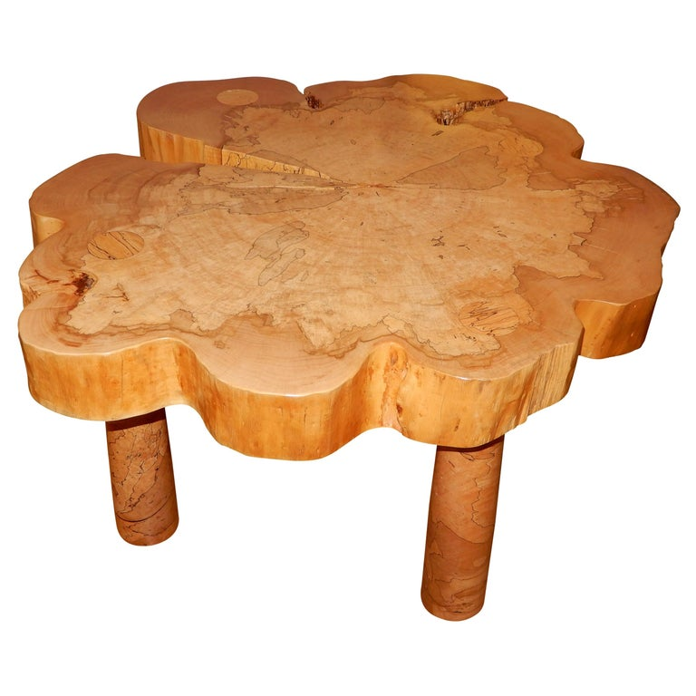 David N. Ebner, Spalted Maple Wood Coffee Table For Sale