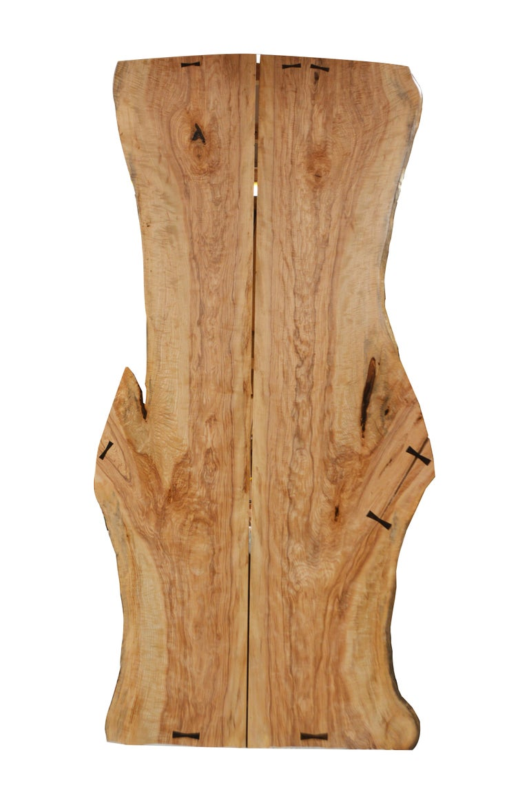 American David N. Ebner, Studio Craft Artist, Slatted Bamboo Bench For Sale