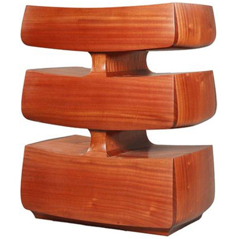 American David N. Ebner, Twisted Stick Ladder Back Chair For Sale