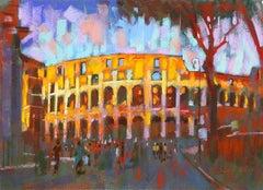 Collisseum Rome Italy original city landscape painting