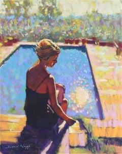 Le Bassin  original figurative Contemporary painting
