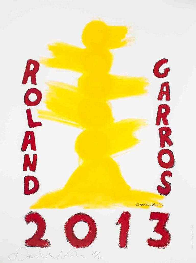 "David Nash-Roland Garros  French Open-31.5"" x 23.5""-Offset Lithograph-2013 - Print by David Nash"