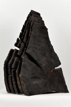 Charred Oak Sheaves by DAVID NASH - British sculptor, natural materials