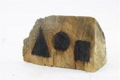 David Nash signed, wood sculpture 'Pyramid, Sphere, Cube'