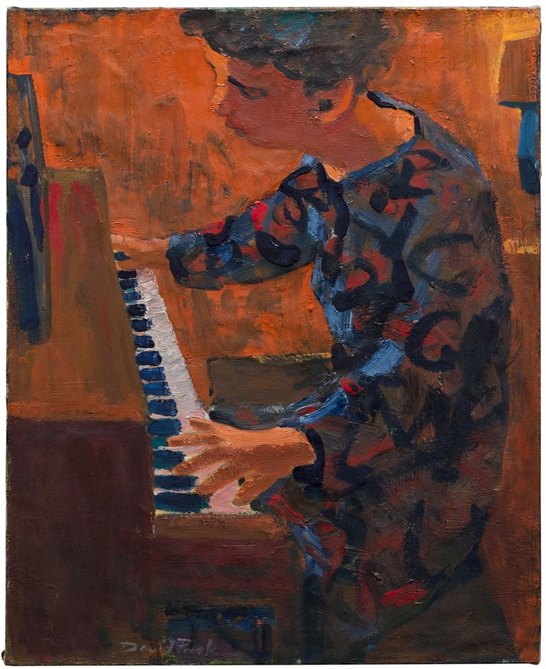 David Park Figurative Painting - Woman at Piano