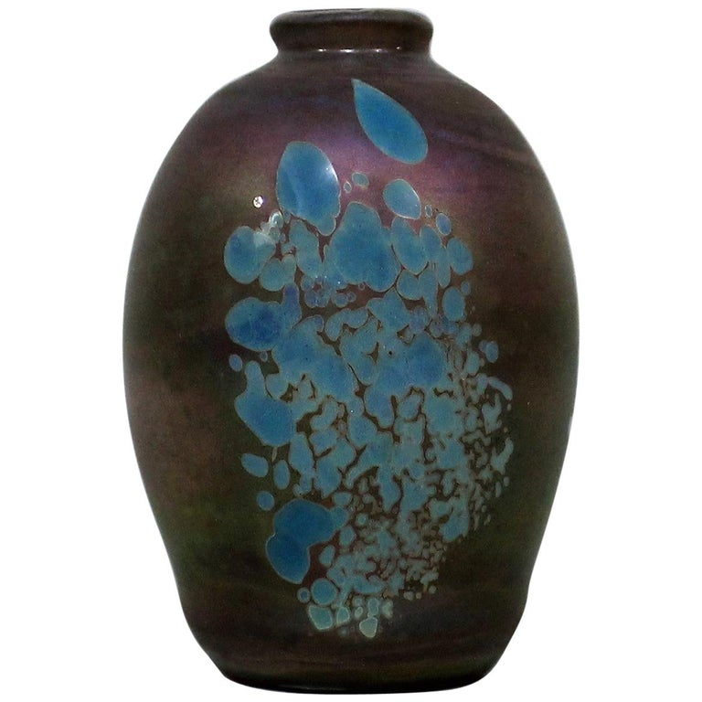 David Paterson Art Glass Vase For Sale At 1stdibs