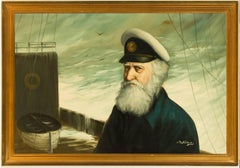 David Pelban (1932-2004) - 20th Century American Oil, Portrait of a Captain