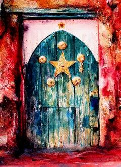 Magic Door original Watercolor Painting