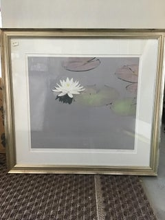 waterlilies print beautiful signed
