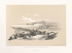 Ashdod. Tinted lithograph after David Roberts, 1855.