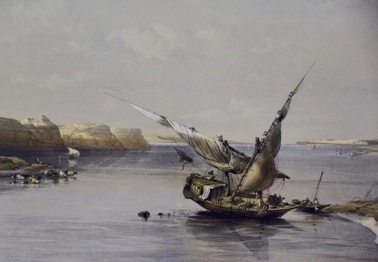 David Roberts' 19th Century Hand Colored Lithograph,