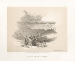 Entrance to the Tomb of the Kings. Tinted lithograph after David Roberts, 1855.